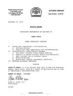 Carol Doyle Autopsy Report