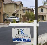 Las Vegas' housing market started the year with mixed results, as prices were up from a year ago but sales totals dropped.