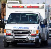 A man suffered moderate to serious injuries when he was hit by a train today in downtown Las Vegas, fire department officials said. The man was struck at the Washington Avenue railroad overpass, between ...