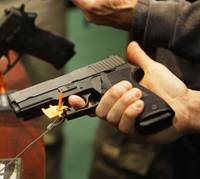 A national gun control lobbying organization on Tuesday made Nevada the latest Western state where it is trying to show that gun rights groups including the National Rifle Association are behind ...