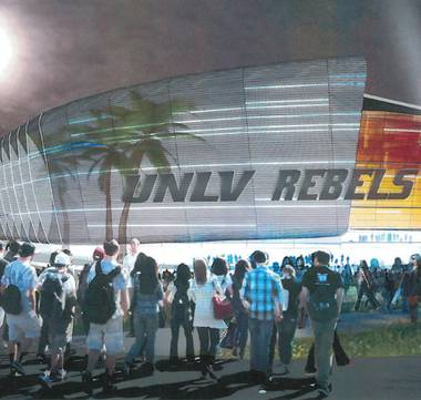"Cost and location plans for a domed, 60,000-seat ""mega-event"" stadium on the UNLV campus are coming into sharper focus two months before a review by the university system's Board of Regents."