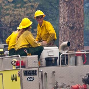 "Firefighters had a ""break-even"" kind of day Monday in battling the vast wildfire at Mount Charleston, getting some containment in some areas, losing ground in others, but so far managing to save every structure, according to an official in charge of the operation."