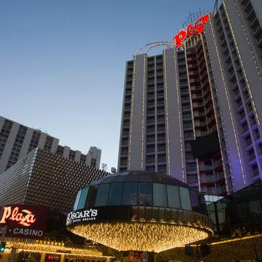 "Las Vegas, like no other place in the U.S., blurs the line between what's considered passé and what's considered retro and hip. Today, the Plaza celebrates the ""future"" arrival date of ..."