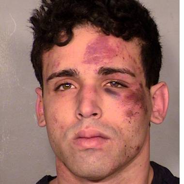 "A man accused of firing a gun during a backstage scuffle with members of the ""Thunder From Down Under"" male revue refused to go to court this morning for an arraignment hearing.