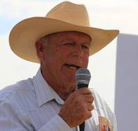 Rancher Cliven Bundy poses at his ranch house near Bunkerville, Sunday, May 4, 2014.