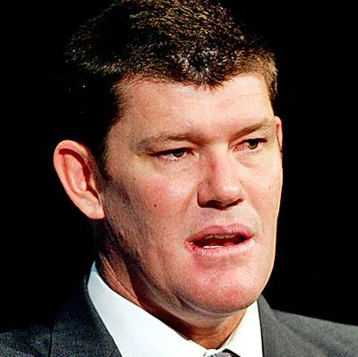 James Packer, executive chairman of Publishing and Broadcasting Limited and Australia's richest person, answers questions after a speech at the Astra Conference on subscription television in Sydney, Australia, on March 15, 2007.