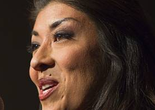Lt. Gov. candidate Lucy Flores gives a concession speech during an election-night party for Democrats on Tuesday, Nov. 4, 2014, at MGM Grand.