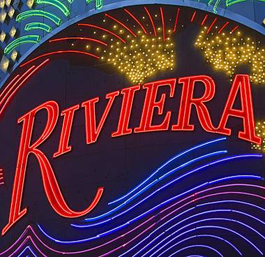 The most prominent portion of the once-glamorous Riviera, the first high-rise on the Las Vegas Strip, has been wiped off the map to make way for something new. Shortly after 2:30 a.m., the Riviera's 24-story Monaco Tower met a splashy and swift ...