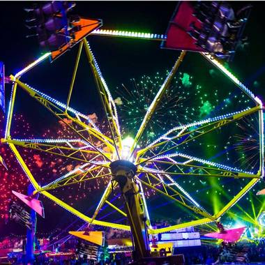 Right now, the place is hopping, for real, with 130,000 or so energetic fans bounding to electronic dance music, flashing lights and exquisite staging. The arched Kinetic Field entrance, leading tens of ...