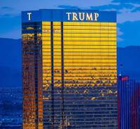 The Fourth of July from atop Allure Las Vegas on Friday, July 4, 2014, in Las Vegas. Trump International Tower is pictured here.