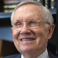 Former Senate Majority Leader Harry Reid (D-Nev) is shown during an interview at UNLV's Boyd School of Law Thursday, April 20, 2017. Reid was officially named as the first Distinguished Fellow in Law and Policy at UNLV's Boyd School of Law.