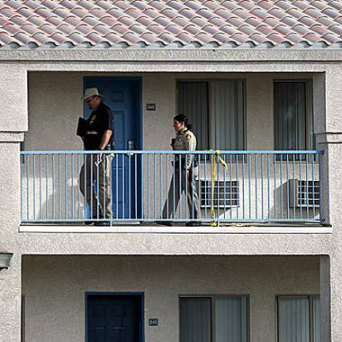 A woman was slain Friday afternoon in what Metro Police are describing as a domestic disturbance at a motel just east of the Las Vegas Strip ...