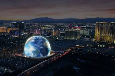 A new arena just off the Strip will be a 360-foot-tall sphere with seating for more than 18,000 people for concerts, awards shows and other entertainment events, according to developers Madison Square Garden Co. and Las Vegas Sands Corp. The MSG Sphere Las Vegas, behind the ...