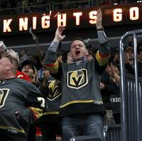 The Golden Knights finished their sweep of the Kings on Tuesday in the first round of the playoffs. They are listed at 4-to-1 ...