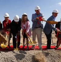 UNLV broke ground today on the Harry Reid Research and Technology Park. The university marked the start of construction on a $35 million, four-story building, the first ...