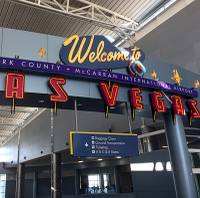 The airport in Las Vegas tallied more than 3.9 million passengers in January. Local aviation officials said that's a 3.3 percent increase ...