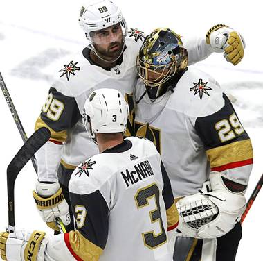 The Golden Knights found out quickly on Sunday that the Western Conference Final won't be anything like their previous two series in the postseason.