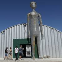 Thousands of curious Earthlings from around the globe traveled to festivals, and several hundred made forays toward the secret Area 51 military base in the Nevada desert ...
