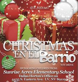 Christmas en el Barrio toy drive