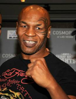 Mike Tyson autograph singing