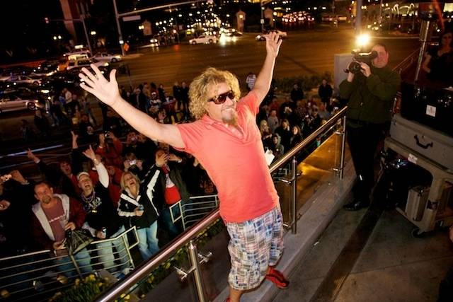 Sammy Hagar's grand opening of Cabo Wabo Cantina at Planet Hollywood's Miracle Mile on Dec. 4, 2009.