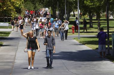 A normal day on the UNLV campus has students walking class to class, studying in groups at public tables, and waiting in line at the student union for a snack before heading to a packed lecture hall for class. When the fall semester begins Aug. 24, that ...