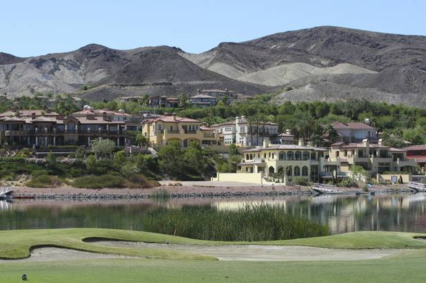 Homes overlooking the Reflection Bay Golf Course at Lake Las Vegas are shown in this file photo.