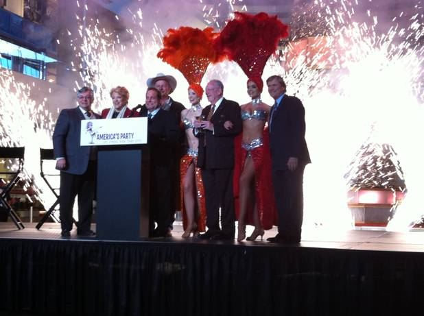 Las Vegas city and tourism officials, at Fashion Show on Wednesday, Dec. 14, 2011, announce details of the citywide 2011 New Year's Eve party.
