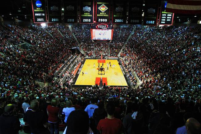 UNLV takes on San Diego State Saturday, Jan. 14, 2012 at Viejas Arena in San Diego. San Diego State won the Mountain West Conference opener 69-67.