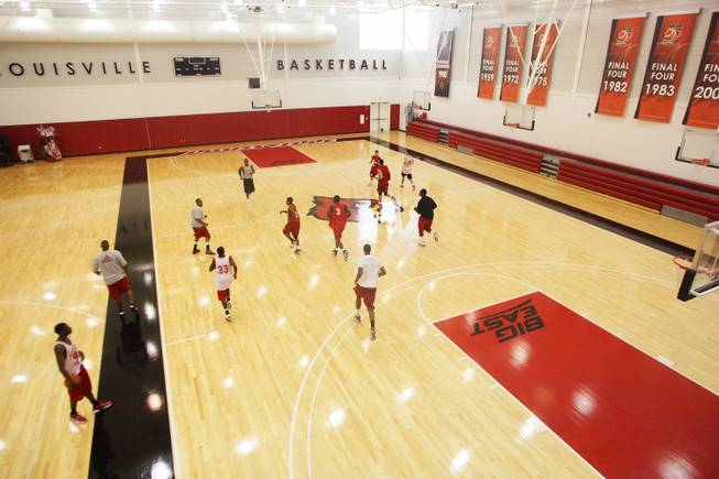 A look at the basketball practice facility at Louisville's  KFC Yum! Center.