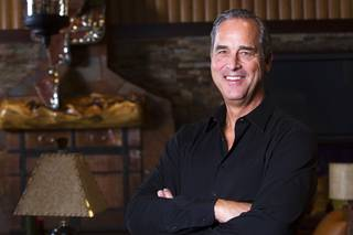 Blake Sartini in the Gold Bar, a private enclave in Golden Gaming headquarters, on Thursday, Feb. 2, 2012.