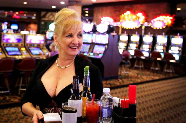 Cocktail Waitress June Drao - June Drao serves cocktails on the casino  floor at Sam's ... -