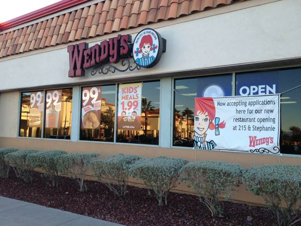 The Wendy's restaurant at 500 N. Green Valley Parkway, as seen on Jan. 28, 2013. Cedar Enterprises recently sold this and 17 other Wendy's properties in the Las Vegas Valley to two national real estate firms.