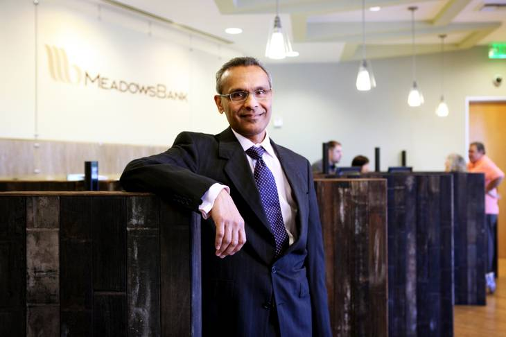 Arvind Menon has been president and CEO of Meadows Bank since 2007. The bank was formed by local gaming executives and business leaders.