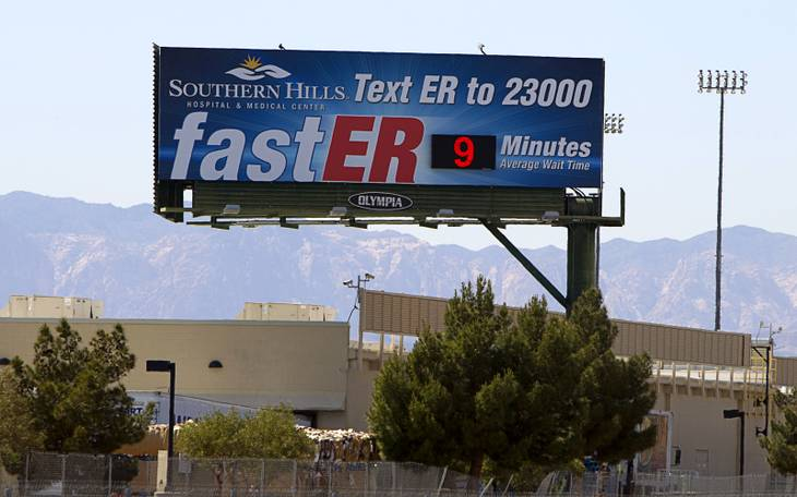 Billboards Display Wait Times At 4 Emergency Rooms In Valley Vegas Inc
