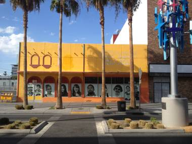 The site of a proposed urban grocery store downtown, which will take over the space formerly occupied by Mamita's Mexican restaurant and the Fremont Street Market & Deli located across the street from El Cortez on the south side.
