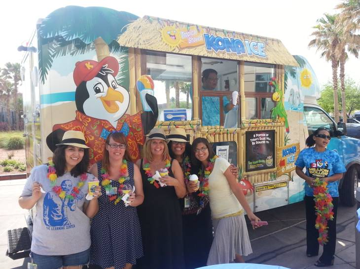 Kona Ice Las Vegas donates much of its profits to charity.