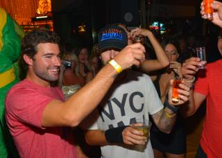 Brody Jenner celebrates his 30th birthday at Hyde Bellagio on Saturday, Aug. 17, 2013.