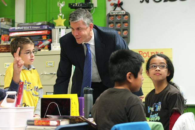 U.S. Secretary of Education Duncan Visits Bracken Elementary