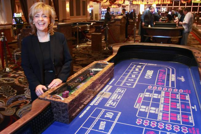 Vice president for table games at Bellagio Graciela Olson, seen Wednesday, July 9, 2014, began her career in the casino industry as a craps dealer in 1979.