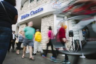 The grand opening of White Castle at the Best Western Plus Casino Royale on Tuesday, Jan. 27, 2015, on the Las Vegas Strip.