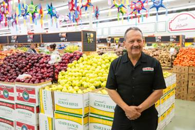 Victor Flores, also know as Mr. Wow, the spokesman for La Bonita Supermarkets. June 10, 2016.