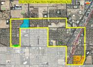 The Choice Neighborhood Initiative in North Las Vegas aims to revitalize the distressed urban area outlined on this aerial map.