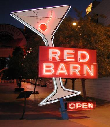 The Red Barn sign — from one of Las Vegas' first gay bars — will be the first Neon Museum piece to visit the Fashion Show mall.