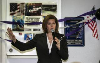 Sen. Catherine Cortez Masto addresses the crowd gathered during an event to talk about the 5th anniversary of Deferred Action for Childhood Arrivals (DACA) on Tuesday, August 15, 2017.