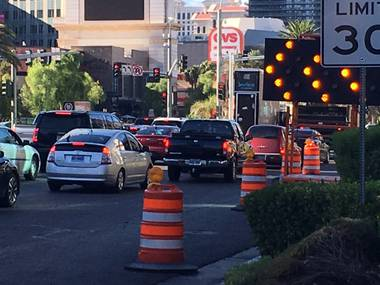 A multiyear construction project along the Las Vegas Strip starts on Wednesday and will bring some road closures ...