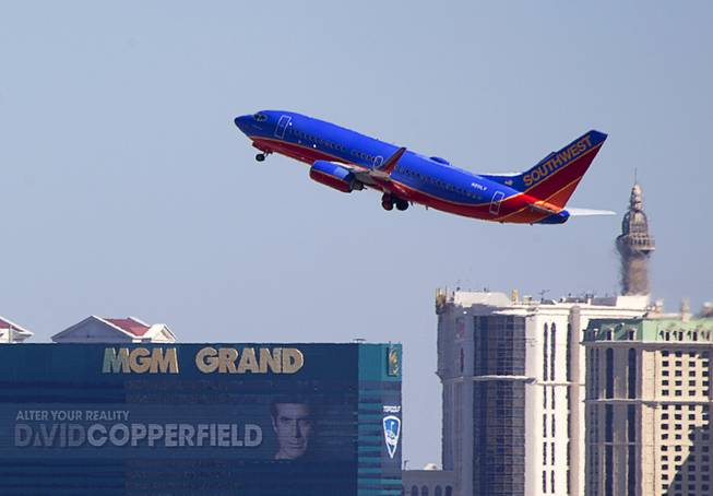 Planes Take Off From McCarran