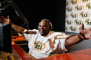 Mr. Bob in the 97.5 FM radio studio in Las Vegas, Nev. on Aug. 10, 2017.