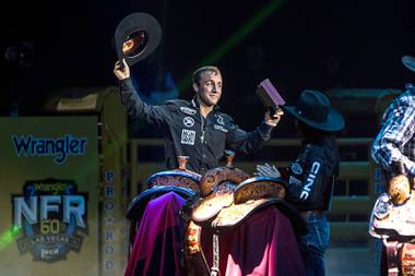 "Sage Kimzey remembers his first time competing at the National Finals Rodeo in Las Vegas. From the roar of the sellout Thomas & Mack Center crowd to the feeling of accomplishment after winning his first bull-riding title, Kimzey made sure to savor every moment. ""There's just so much honor and ..."