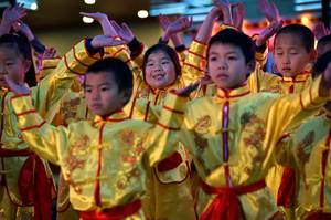New East West Chinese Learning Center students perform during the ...